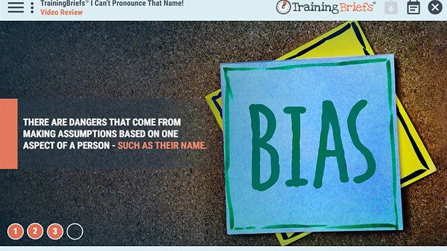 TrainingBriefs® I Can't Pronounce That Name!