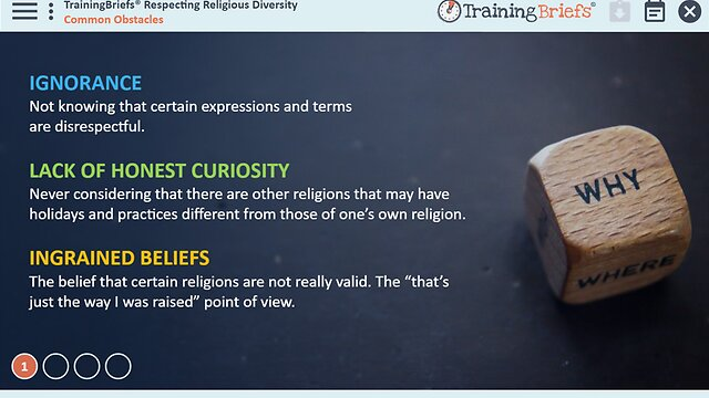 TrainingBriefs® Respecting Religious Diversity