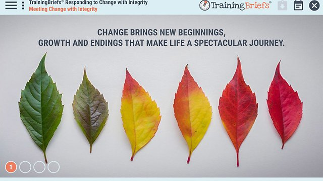 TrainingBriefs™ Responding to Change with Integrity