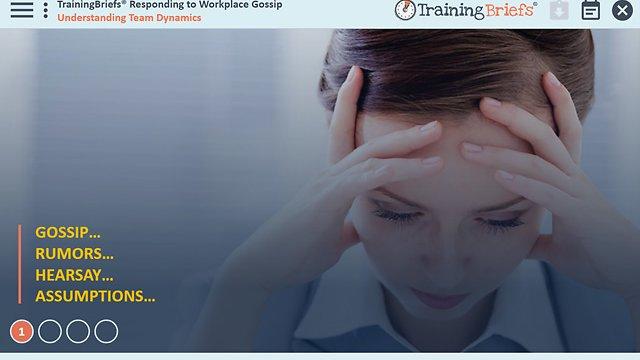 TrainingBriefs® Responding to Workplace Gossip