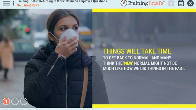 TrainingBriefs® Returning to Work: Common Employee Questions