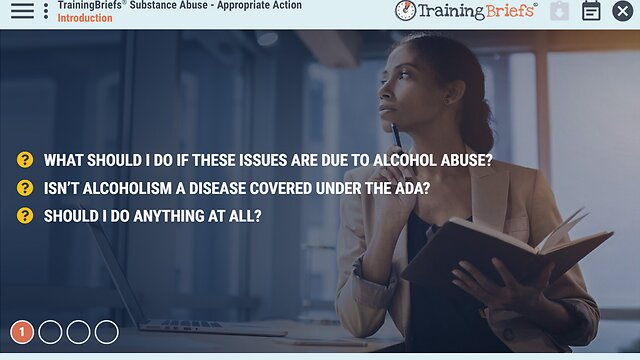 TrainingBriefs™ Substance Abuse - Appropriate Action
