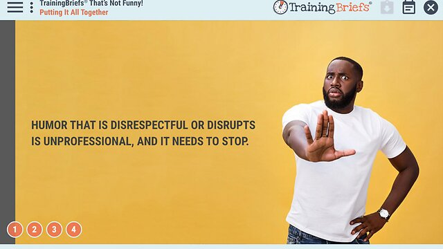 TrainingBriefs™ That's Not Funny!