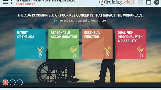 TrainingBriefs™ The ADA - Determining Qualifications