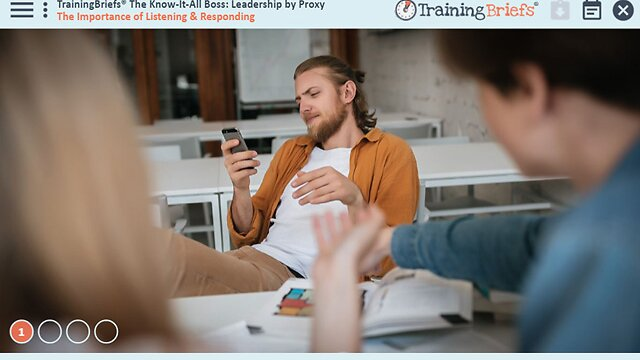 TrainingBriefs™ The Know-It-All Boss: Leadership by Proxy
