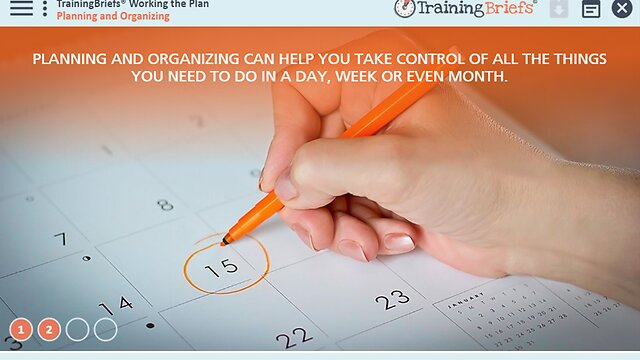 TrainingBriefs™ Working the Plan