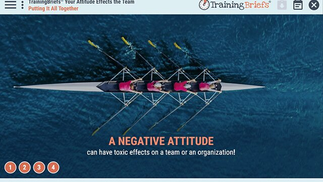TrainingBriefs® Your Attitude Effects the Team