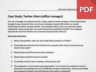 Twitter Jitters