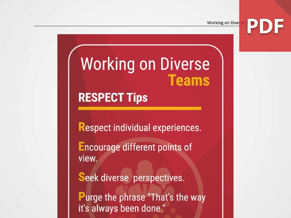 Top Tips for Working on Diverse Teams