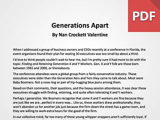 Article: Generations Apart