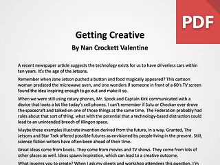 Article: Getting Creative