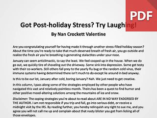 Article: Got Post-Holiday Stress? Try Laughing!