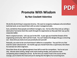 Article: Promote Wisely