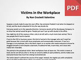 Article: Victims in the Workplace