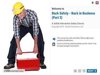 Back Safety – Back in Business™ (Part 2)