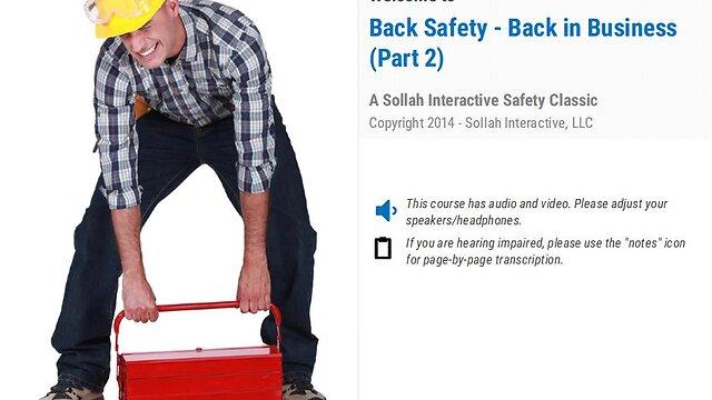 Back Safety – Back in Business™ (Part 2)