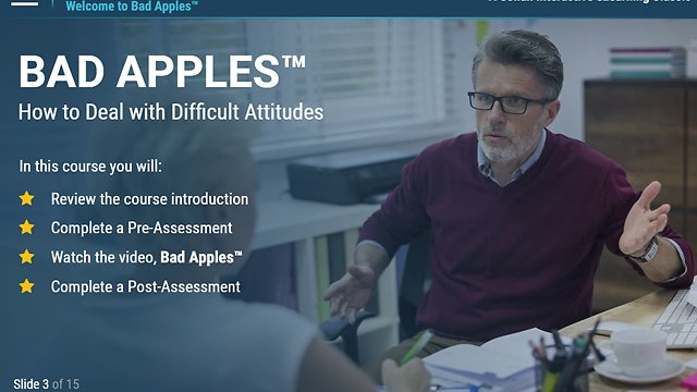 Bad Apples™: How to Deal with Difficult Attitudes (eLearning)