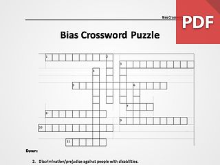 Bias Crossword Puzzle