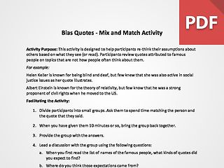 Bias Quotes - Mix and Match Activity