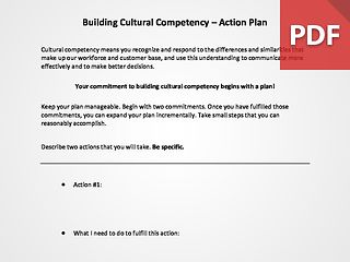 Building Cultural Competency Action Plan