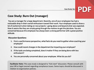 Burn Out (Manager)