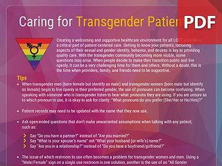 Caring for Transgender Patients