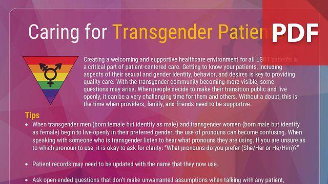 Caring for Transgender Patients