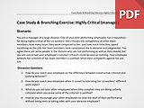 Case Study & Branching Exercise: Highly Critical (Manager)