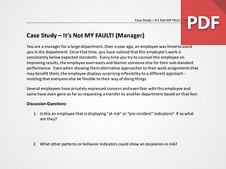 Case Study – It's Not MY FAULT! (Manager)