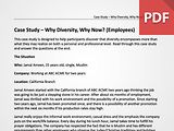 Case Study – Why Diversity, Why Now? (Employees)