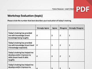 Customizable Workshop Evaluation