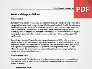 Defining Your Role and Responsibilities
