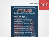Discussion Card: ATTITUDE! Producing Positive Results