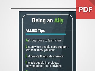 Discussion Card: Being an Ally