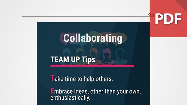 Discussion Card: Collaboration