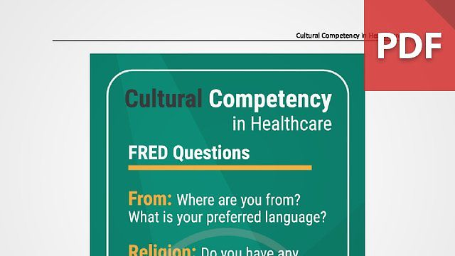Discussion Card: Cultural Competency in Healthcare