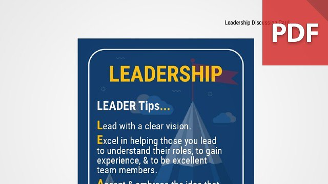 Discussion Card: Leadership