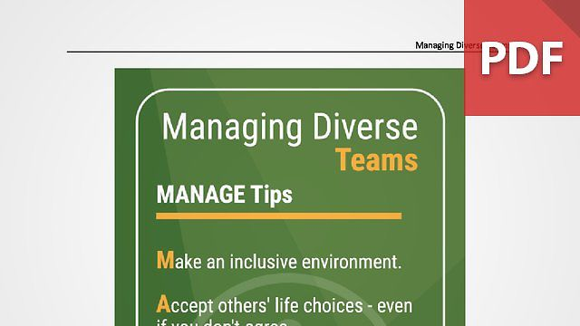 Discussion Card: Managing Diverse Teams