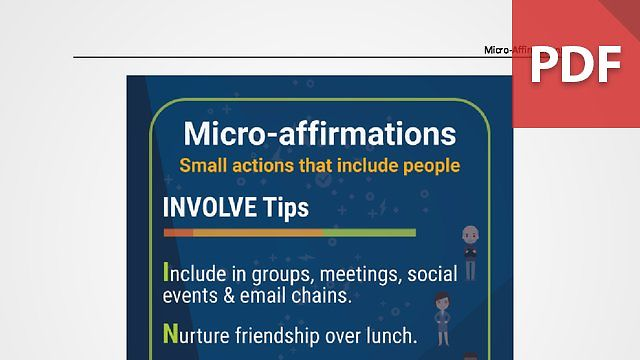 Discussion Card: Micro-Affirmations