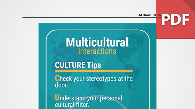 Discussion Card: Multicultural Interactions