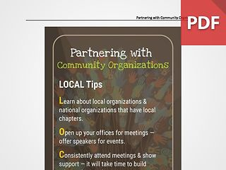 Discussion Card: Partnering with Community Organizations