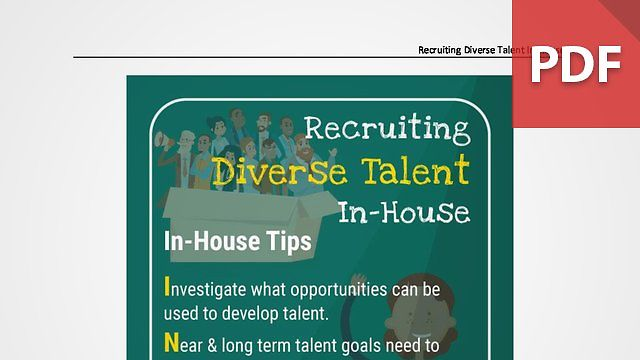 Discussion Card: Recruiting Diverse Talent In-House