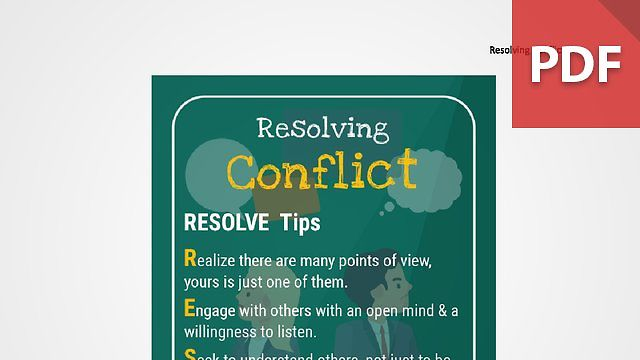 Discussion Card: Resolving Conflict