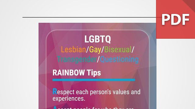 Discussion Card: Respecting LGBTQ Coworkers