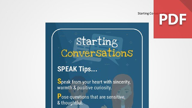Discussion Card: Starting Conversations