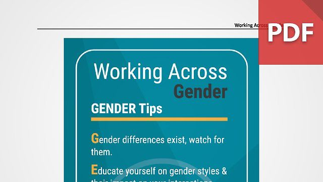 Discussion Card: Working Across Gender