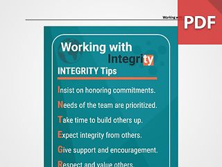 Discussion Card: Working with Integrity