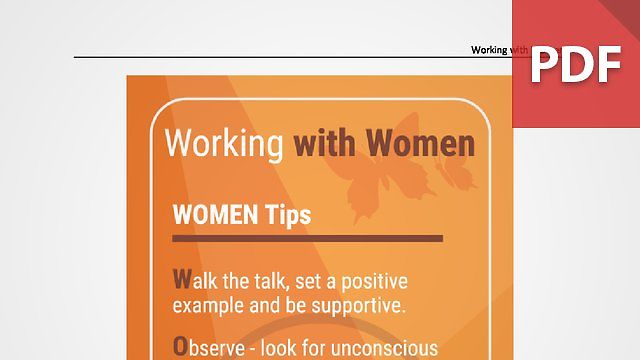 Discussion Card: Working with Women