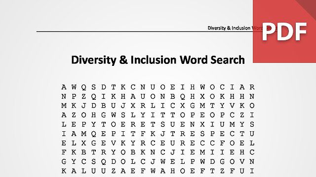 Diversity & Inclusion Word Search
