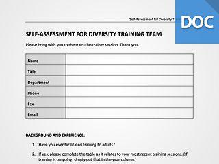 Diversity Trainer Assessment
